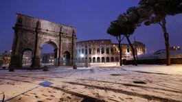 Rím, sneh, zima, Taliansko