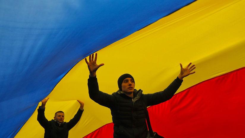 mladí, vlajka, Moldavsko, Kišiňov,