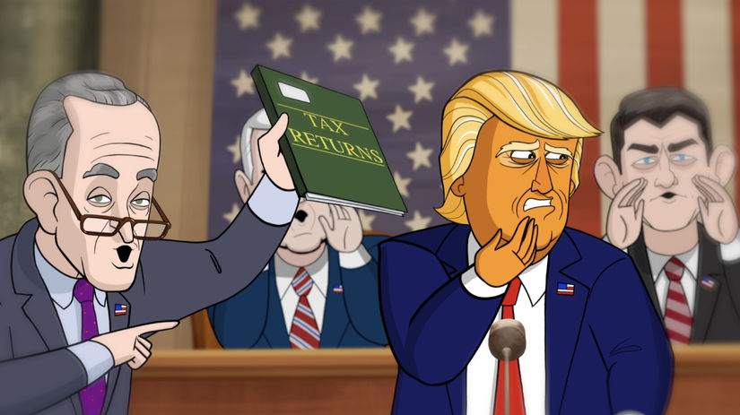 our cartoon president, náš maľovaný prezident,