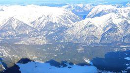 Alpy, Zugspitze, pleso, hory, zima, sneh