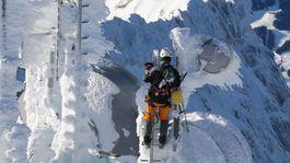 Horolezec, Alpy, sneh, zima, Zugspitze,