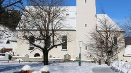 Kostol, zima, sneh, Zugspitze