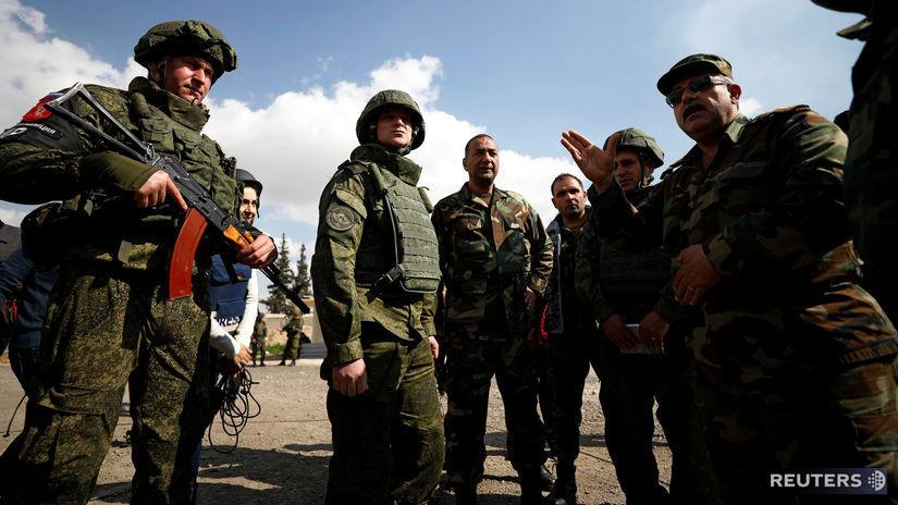vojaci, Rusko, Sýria, Východná Ghúta, Damask