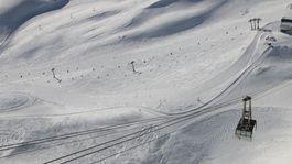 zjazdovka, Alpy, Zugspitze, lyžovanie, lanovka