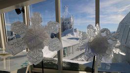 Zugspitze, vločka, sneh, Alpy