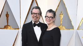 Herec Gary Oldman a jeho manželka Gisele Schmidt.