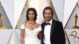 Herec Matthew McConaughey a jeho manželka Camila Alves.