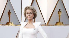 Herečka Jane Fonda v kreácii Balmain 44 François Premier.