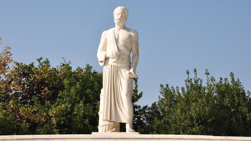 Hippokrates, socha, antika