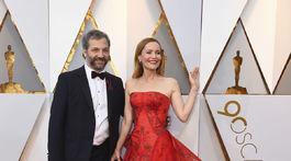 Režisér Judd Apatow a jeho manželka Leslie Mann.