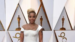 Speváčka a herečka, nominovaná za výkon vo filme Mudbound, Mary J. Blige.