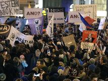 Česká republika, protest, demonštrácie, Praha, komunista, Zděnek Ondráček