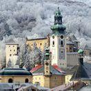 Banská Štiavnica, kostoly, les, hrad