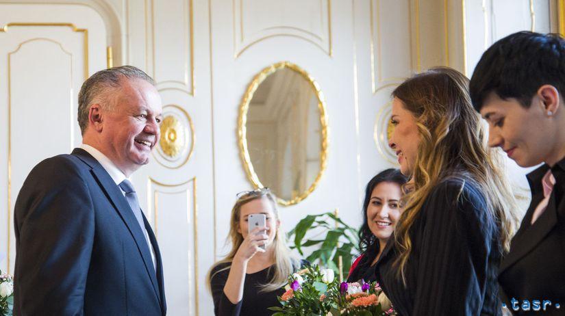 SR prezident MDŽ ženy prijatie obed