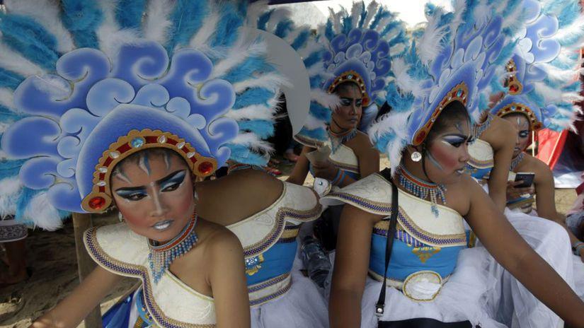 Indonézia, tanečnice, Bali