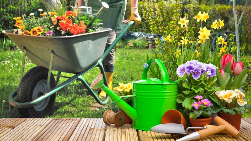 jar, apríl, záhrada