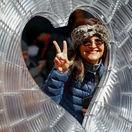 turistka, srdce, Valentín, Times Square