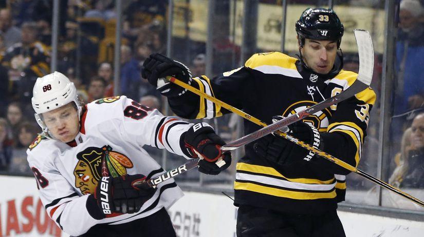 USA NHL SR Black Hawks Bruins Hokej chára