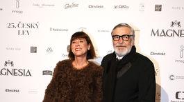 Herec Jiří Bartoška a jeho manželka Andrea.