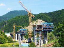 most, práce, tunel Čebrať, Ružomberok