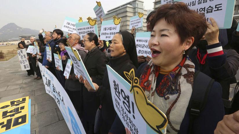 demonštrácia, Soul, mier, Kórejský polostrov