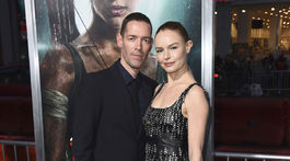 Herečka Kate Bosworth a jej manžel Michael Polish.