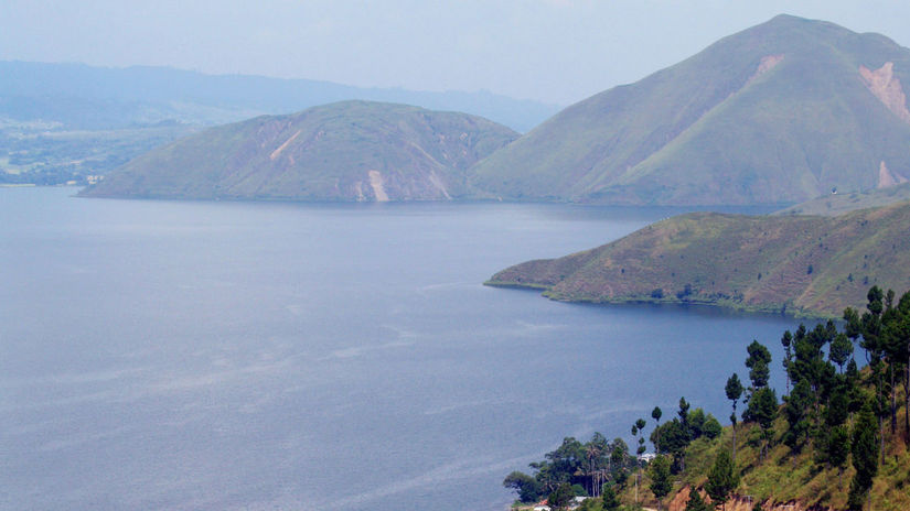 vulkán, Toba, jazero, Indonézia