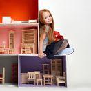 bývanie, dom pre bábiky, dievča,