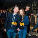 Moderátor a zabávač Andrej Bičan a jeho priateľka Michaela.