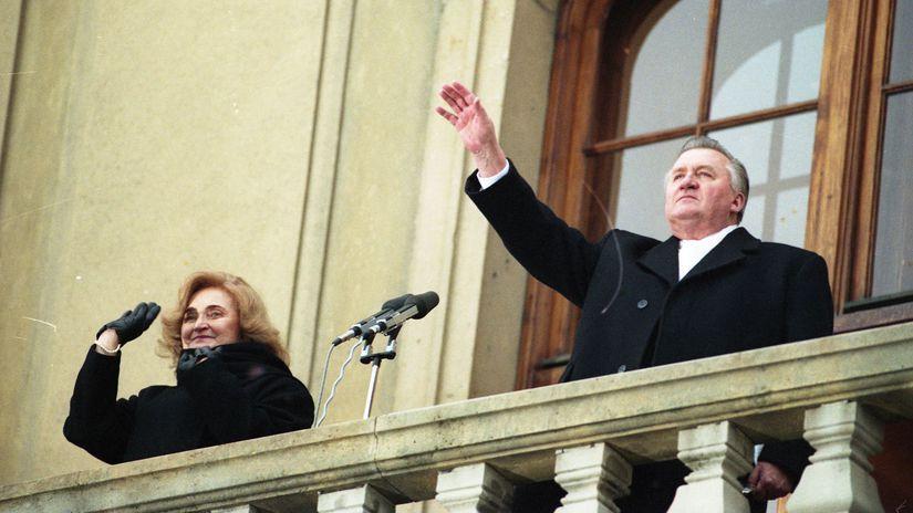 inaugurácia, Michal Kováč, manželka,...