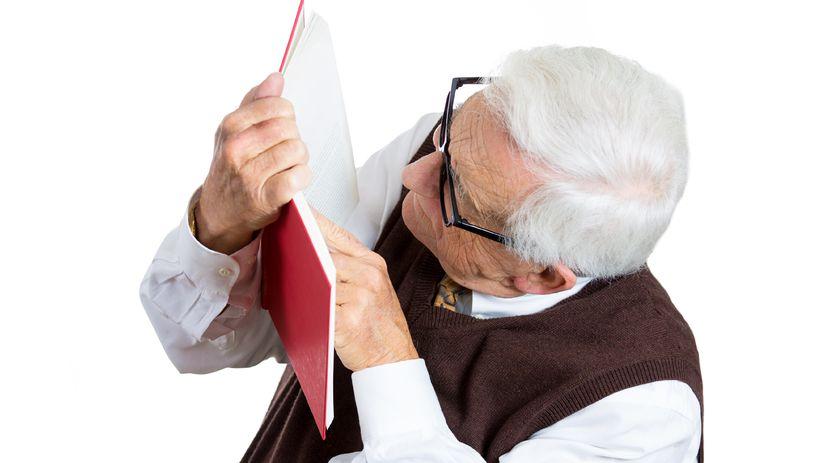 krátkozrakosť, čítanie, staroba, okuliare