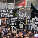 Výber najzaujímavejších fotiek zo včerajších protestov Za slušné Slovensko