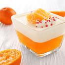 Pomarančový puding so šľahačkou