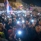 Ľudia v uliciach opäť žiadali slušné Slovensko a predčasné voľby