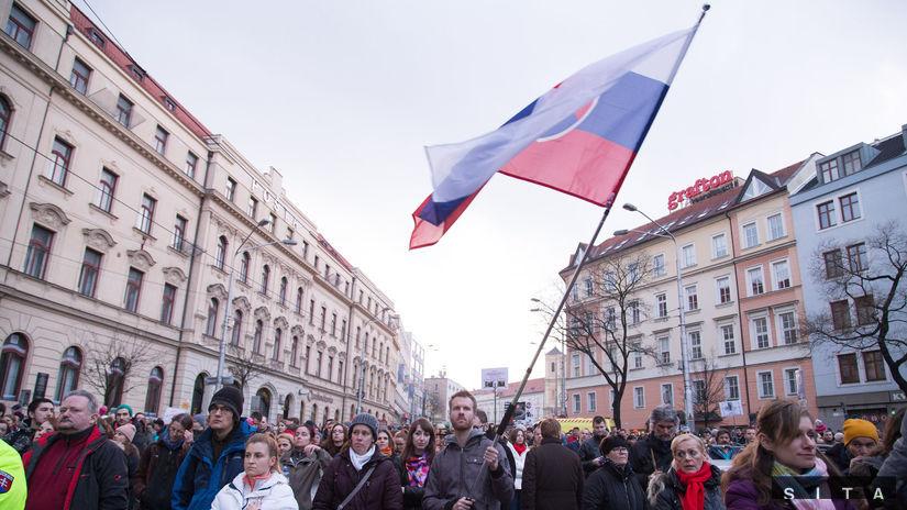Za slušné Slovensko v Bratislave