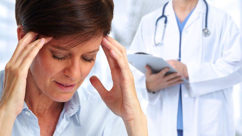 hlava, bolesť, vyšetrenie, diagnóza, lekár