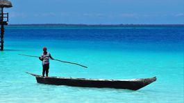 Zanzibar, more, oceán, loď