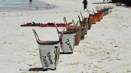 Zanzibar, pláž, oceán, tašky