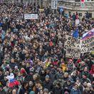 Nie je nám to jedno, demonštrácia, protest pochod safarikovo nam. - nam. snp