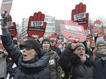 Polsko, protest, Varšava,