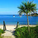 Scilly, ostrov, exotika, pláž, more, palma, piesok, schody, dovolenka, relax, cestovanie