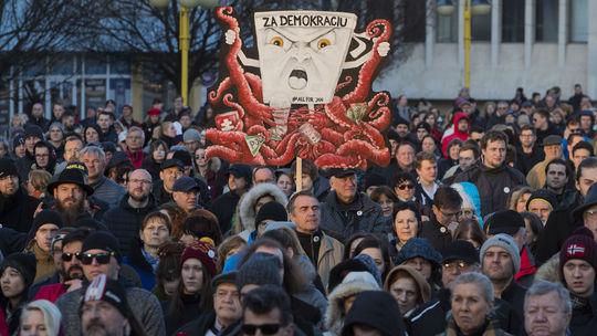 Na snímke protestné zhromaždenie Za slušné. c12732aef38