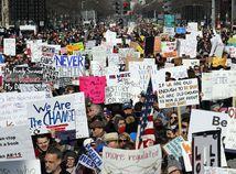 USA Washington Protest Zbrane Kontrola Sprísnenie