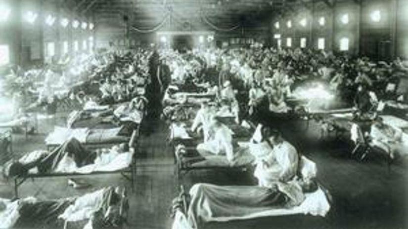 الفرق الإنفلونزا الإسبانية COVID-19 الإنسان spanielska-chripka-c
