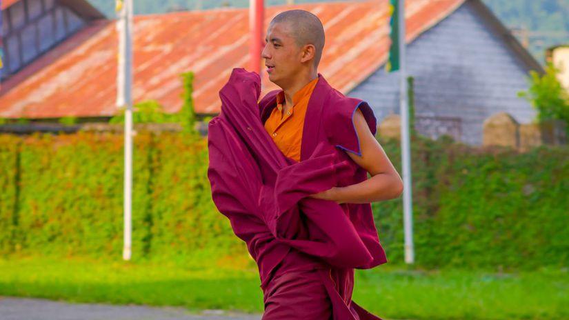 mních, budhizmus