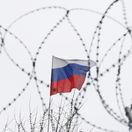 Británia, Rusko, Ukrajina, vlajka, ambasáda, Kyjev