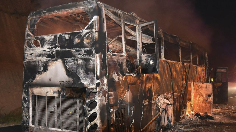 Thaisko autobus požiar