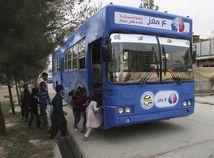 Autobus, kábul, deti, afganistan