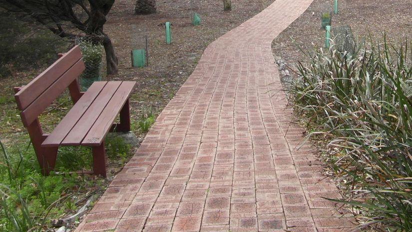 chodník, záhrada, park, tehly
