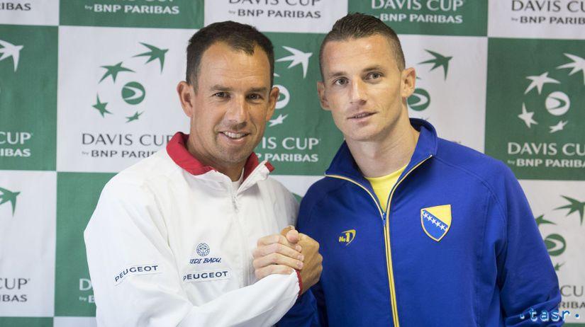 SR tenis DC Slovensko Bosna a Hercegovina Hrbatý